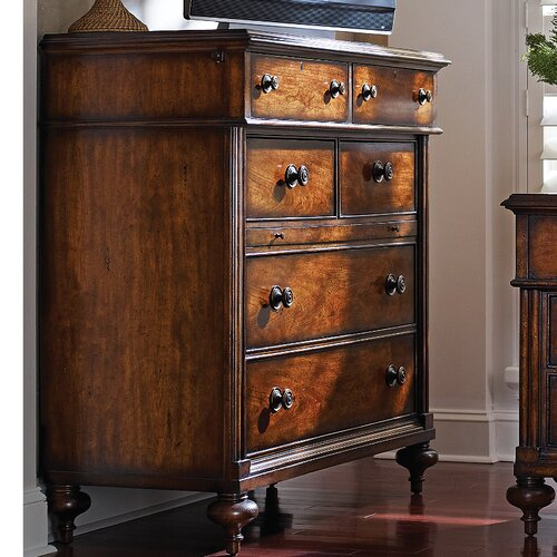 The Classic Portfolio British Colonial 5 Drawer Media Chest by Stanley