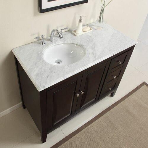 45 single sink bathroom vanity 45 quot single sink cabinet bathroom vanity set wayfair 21832