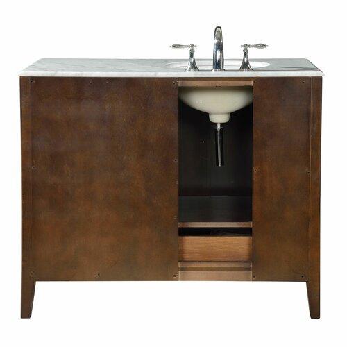 45 single sink cabinet bathroom vanity set by silkroad exclusive
