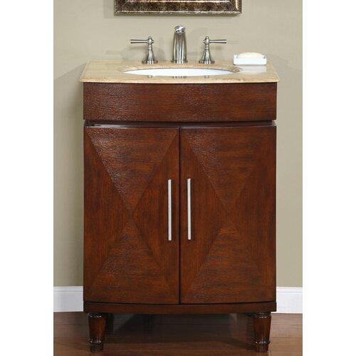 Silkroad Exclusive Cambridge 26 Single Bathroom Vanity Set Reviews Wayfair
