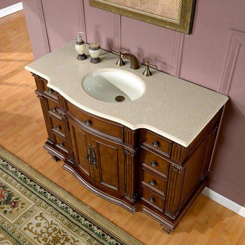 Silkroad Exclusive Esther 48 Single Bathroom Vanity Set Reviews Wayfair