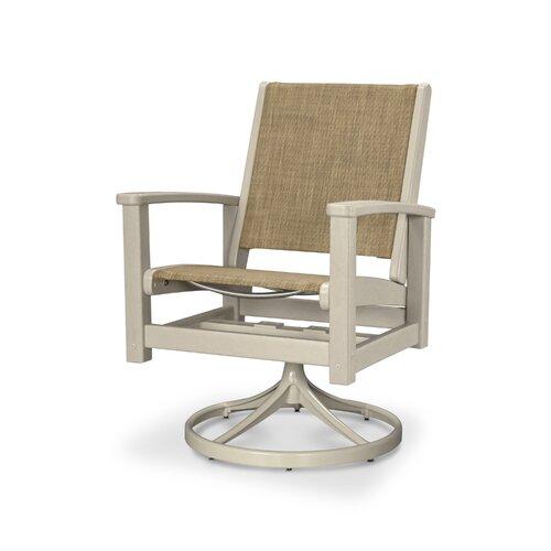 Coastal Swivel Rocking Chair by POLYWOOD®