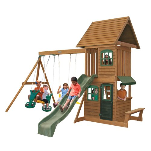 Big Backyard Windale : Big Backyard Windale Wooden Swing Set & Reviews  Wayfair