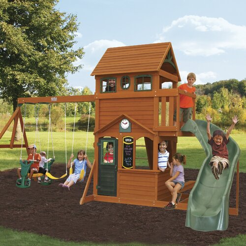 Huge Backyard Playsets : Big Backyard Ashberry Wooden Swing Set & Reviews  Wayfair
