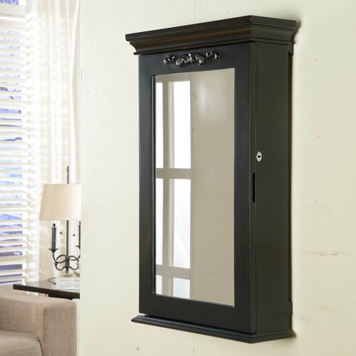 hang kitchen cabinets wildon home 174 morris wall mounted jewelry armoire 16179