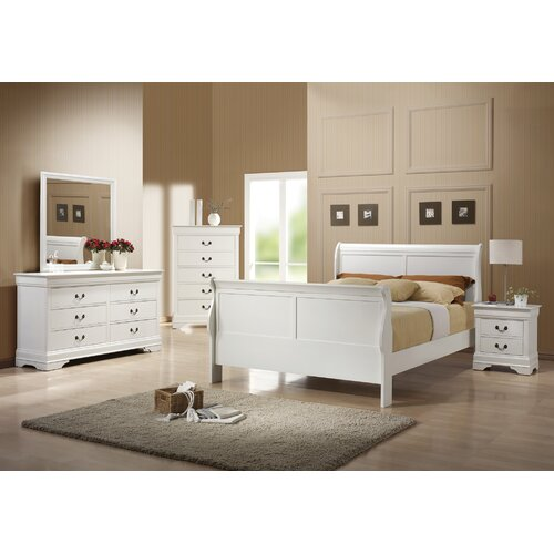 Wildon Home Louis Philip Sleigh Customizable Bedroom Set Reviews Wayfair