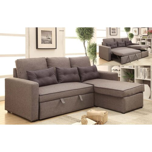 Wildon Home Pull Out Sectional Sofa Reviews Wayfair