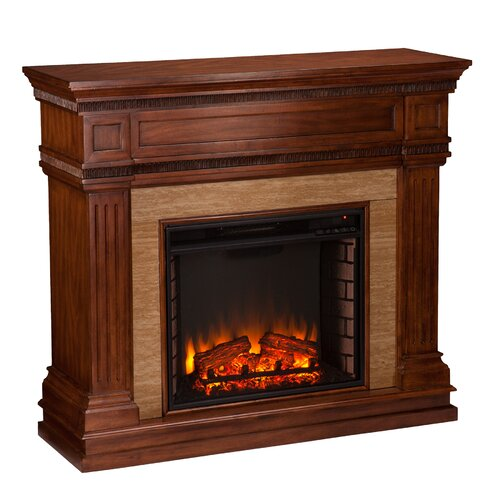 three posts cantrell stone look electric fireplace