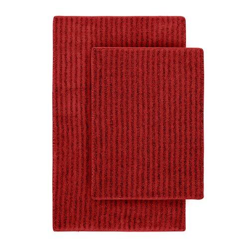 Wildon Home Devinne 2 Piece Red Bath Rug Set Reviews Wayfair