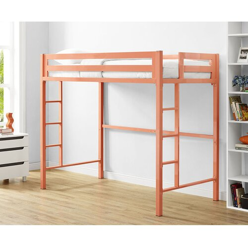 dhp studio twin loft bed with integrated desk and shelves 1