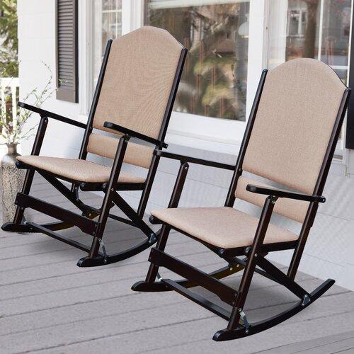 Wildon Home Cedar Creek Solid Wood Folding Rocking Chairs & Reviews