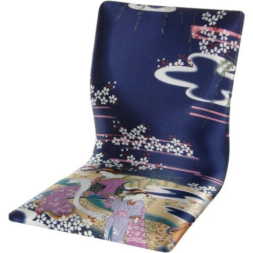 Tatami Indigo Geisha Meditation Fabric Lounge Chair