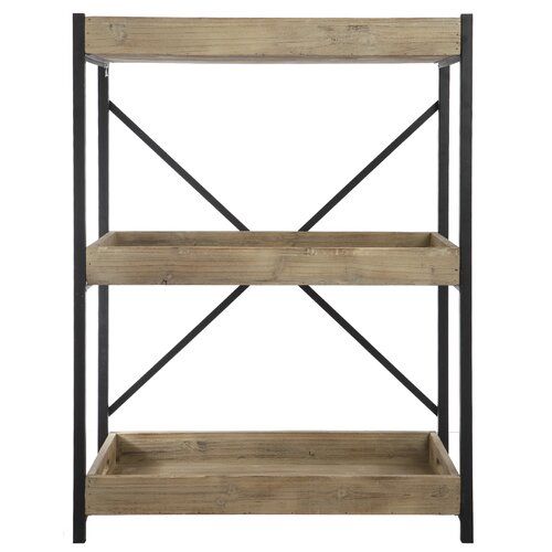 A b home group inc wood and metal low 35 etagere reviews w - Etagere modulable metal ...