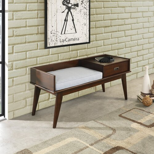 Huntington Beach Wood Storage Bench