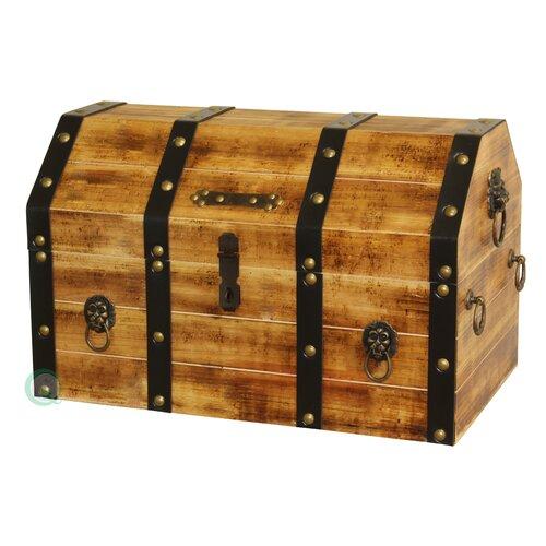 Wood wine box six bottle wine holder in antique cherry - Coffre en bois a vendre ...