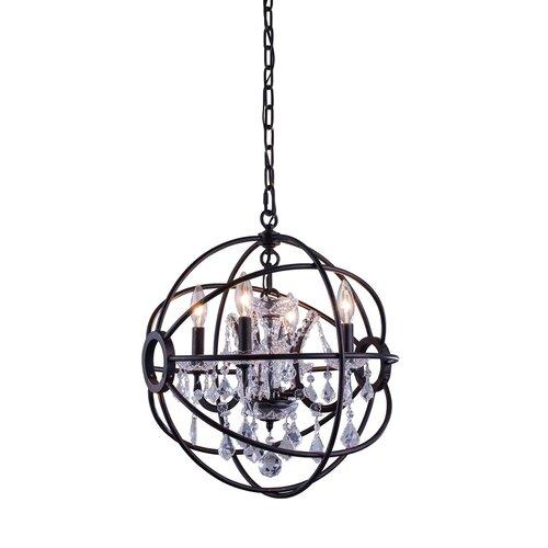Elegant Lighting Geneva 4 Light Foyer Pendant & Reviews