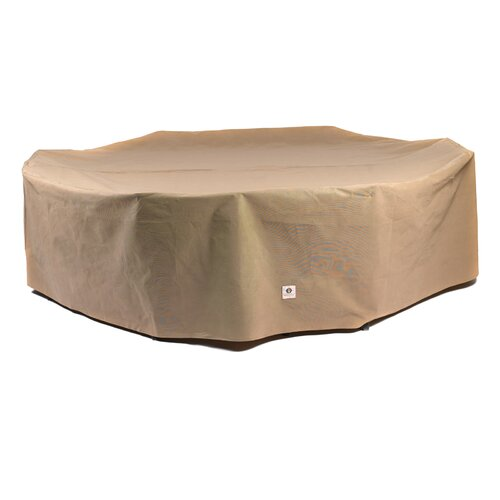 Duck covers essential rectangular oval patio set cover for Oval patio set cover