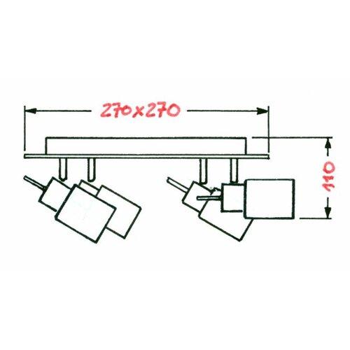 deckenstrahler 4 flammig von briloner. Black Bedroom Furniture Sets. Home Design Ideas