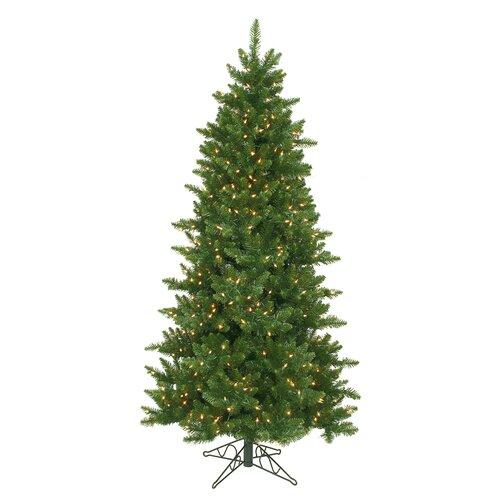 Vickerman Camdon Fir 6.5 Green Artificial Slim Christmas Tree with