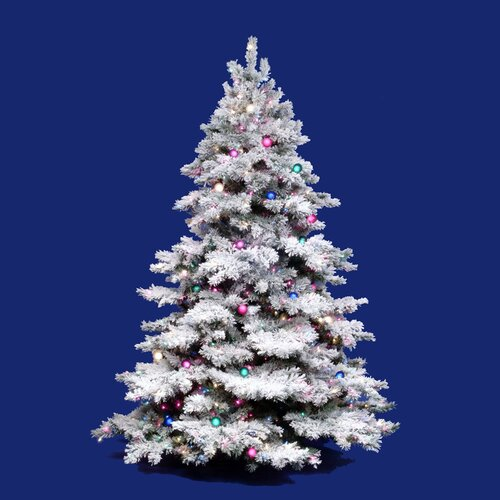 Vickerman Flocked Alaskan 10 White Artificial Christmas