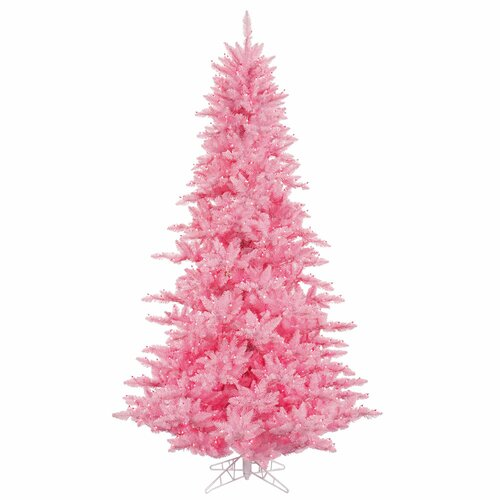 Vickerman 6.5' Pink Fir Artificial Christmas Tree With 600