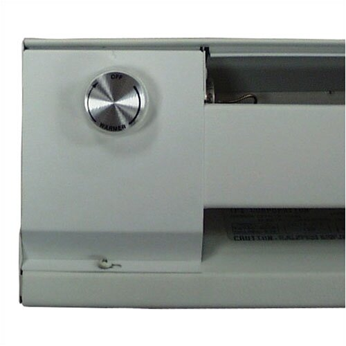 Wall Mount Heater With Thermostat : Tpi thss series wall mounted electric convection baseboard