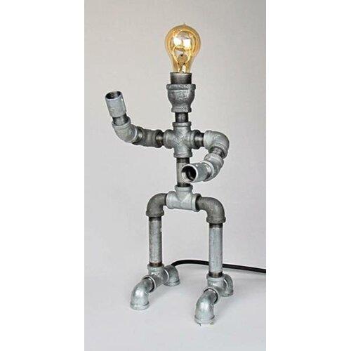 Metrotex designs industrial evolution robot 18 h table for Wayfair industrial lamp