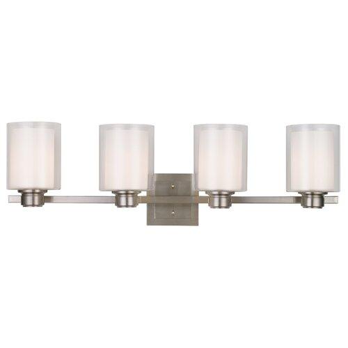 Bathroom Vanity Lights Reviews : Design House Oslo 4 Light Bath Vanity Light & Reviews Wayfair