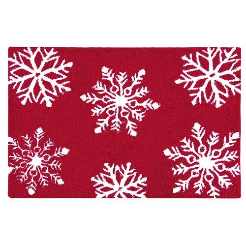 C & F Enterprises Winter Snowflakes Hooked Rug & Reviews