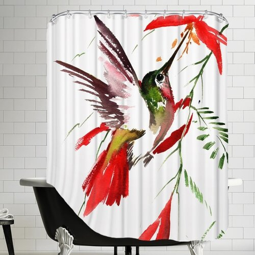Hummingbird 8 Shower Curtain by Americanflat