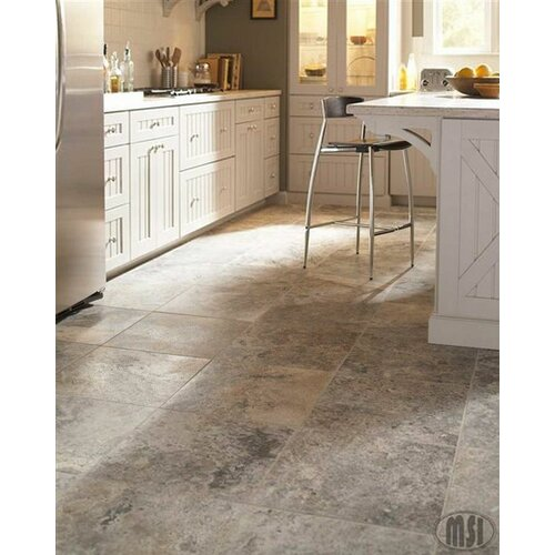Anti Och Travertine : Msi silver travertine quot tile in honed