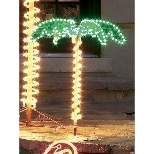 Palm Tree String Lights Outdoor : Tropical Lighted Holographic Rope Light Outdoor Palm Tree Decoration Wayfair