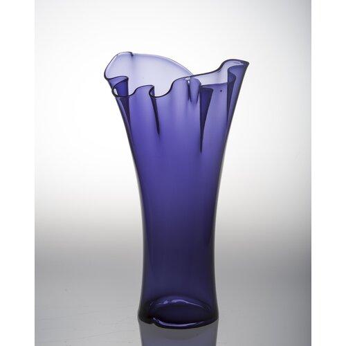 Pam Top Ruffle Plum Vase