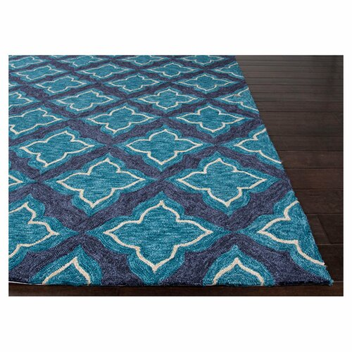 Moroccan Blue & Ivory Rug