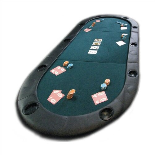 Trademark Global Texas Hold'em Poker Folding Tabletop With Cupholders