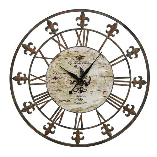 one allium way oversized 36 quot metal wall clock reviews wayfair