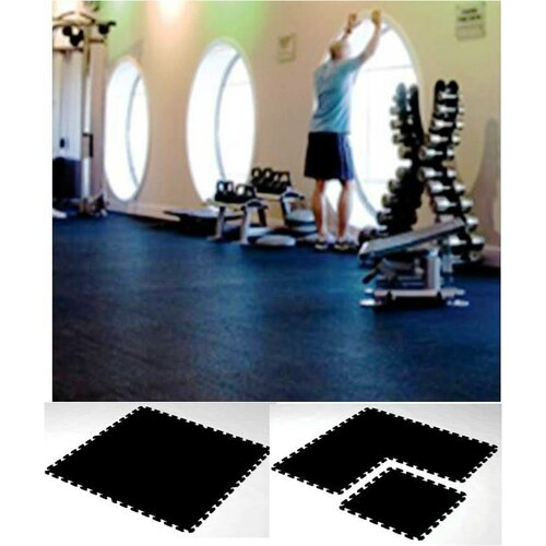 Mats Inc. iFLEX Recycled Rubber Interlocking Floor Tiles in Black