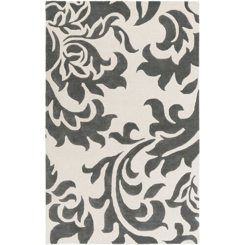 Lounge Heidi Hand Tufted Dark Grey/Off-White Area Rug by Artistic Weavers