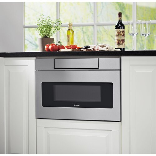 Panel Ready Microwave Drawer: Sharp Insight 1.2 Cu. Ft. 1000W Microwave Drawers