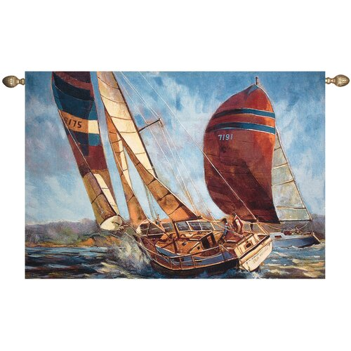 Manual Woodworkers & Weavers Racing in the Wind Tapestry