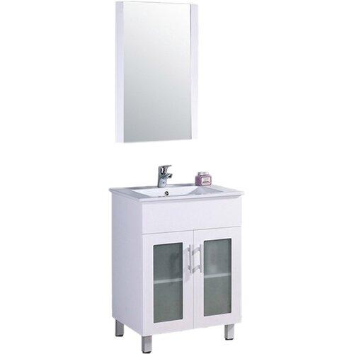Legion Furniture 24 Single Bathroom Vanity Set With Mirror Reviews Wayfair