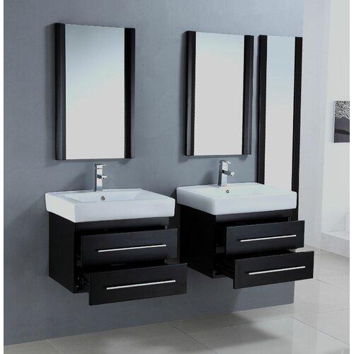 Legion Furniture 24 Floating Double Bathroom Vanity Set Reviews Wayfair