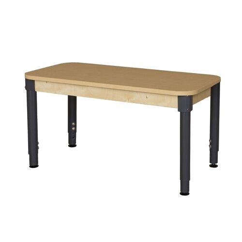 Rectangle High Pressure Laminate Table Adjustable Legs