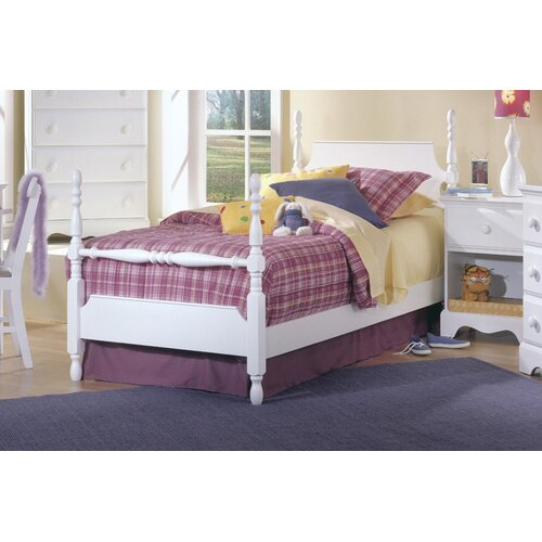 white four poster bed twin 2