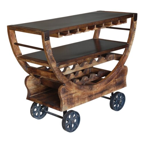 Cdi International Industrial Kitchen Cart With Mango Top: Urban Farm Square Mango Wood Caddy