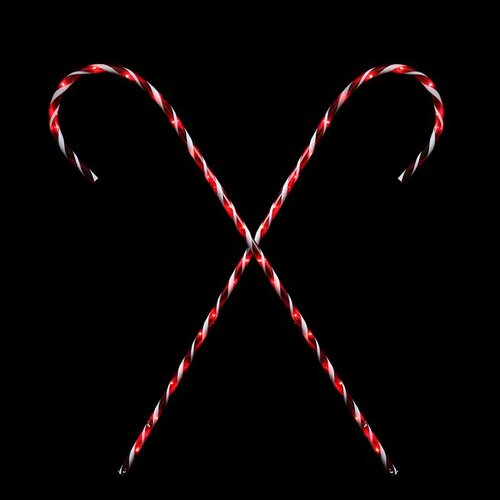 2 Peppermint Twist Giant Lighted Candy Cane Pathway