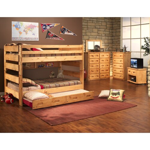 Full over Full Bunk Bed with Trundle