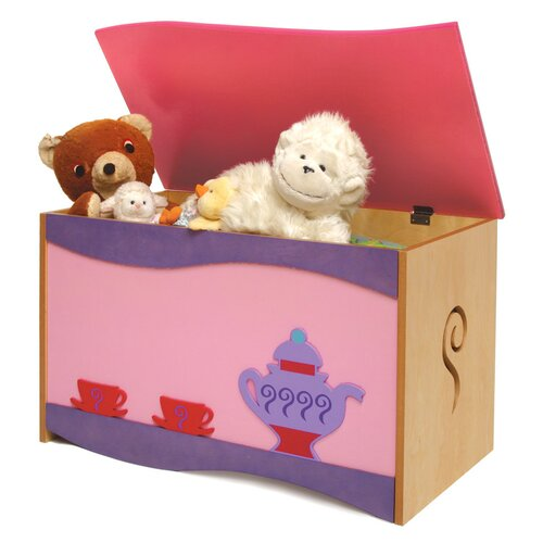 little girl teaset toy box wayfair. Black Bedroom Furniture Sets. Home Design Ideas