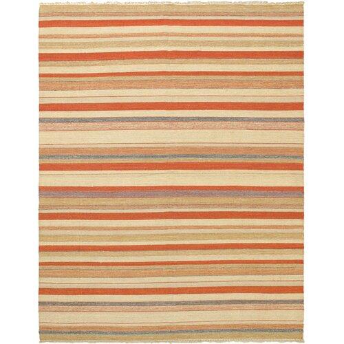 Kaleidoscope Orange Striped Outdoor Area Rug