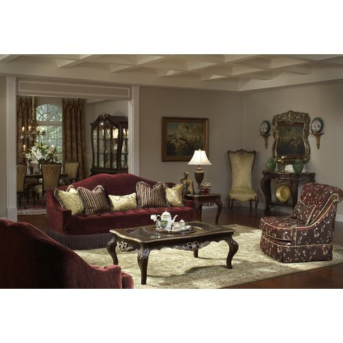 imperial court tufted living room collection by michael amini